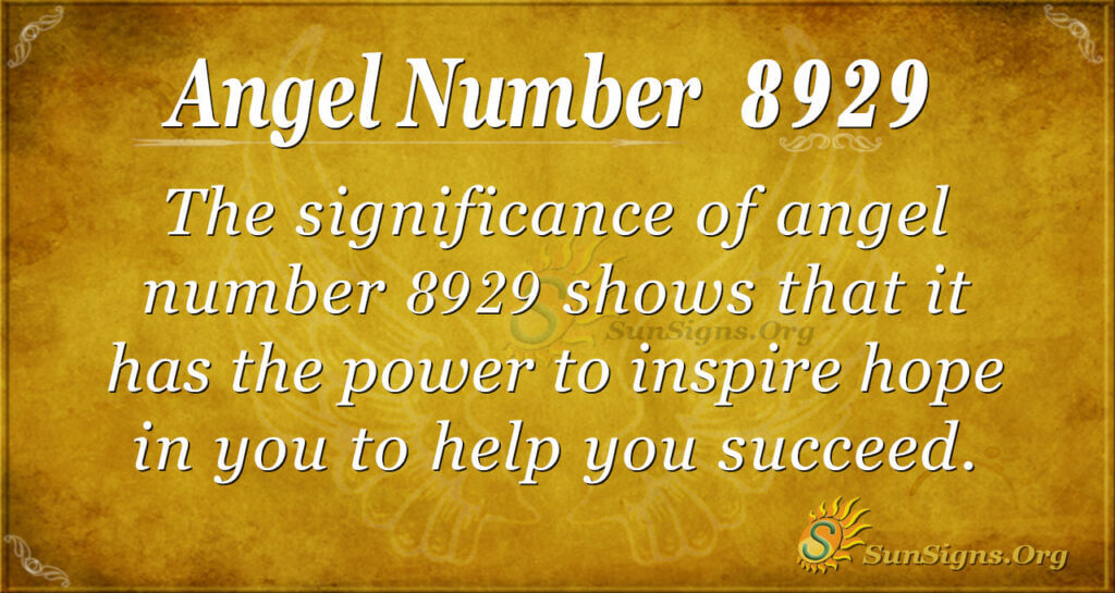8929 angel number