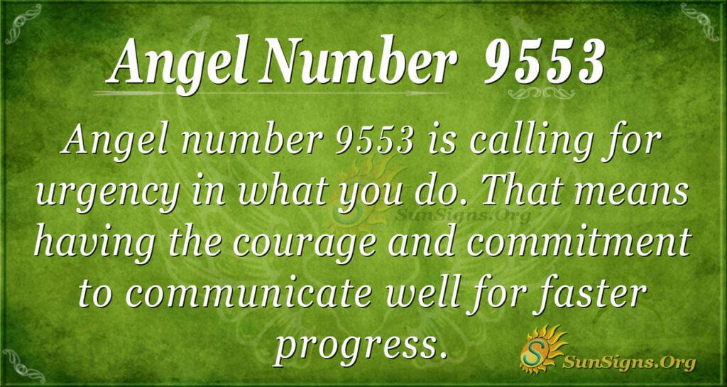 9553 angel number