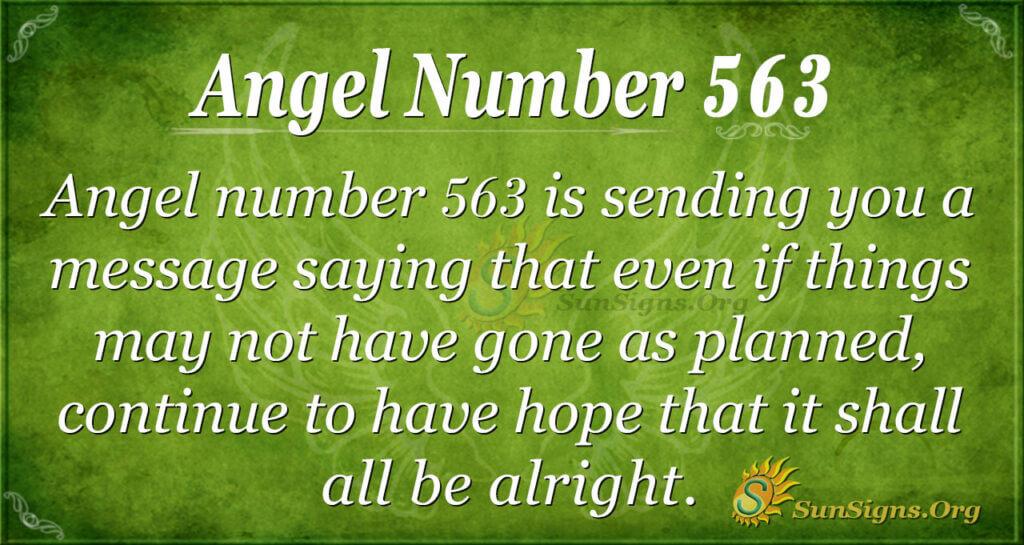 Angel Number 563