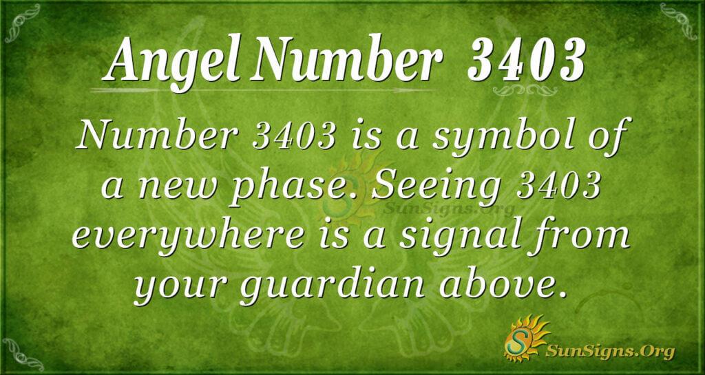 3403 angel number