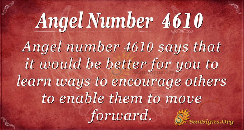 4610 angel number