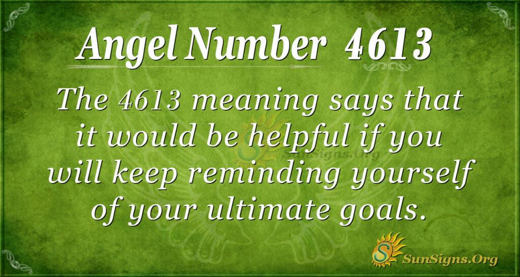 4613 angel number