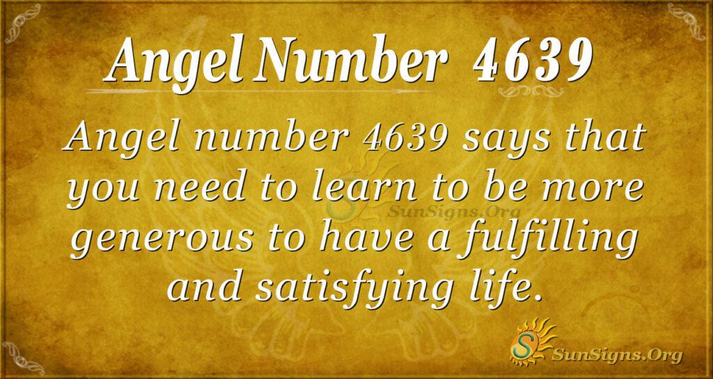 4639 angel number