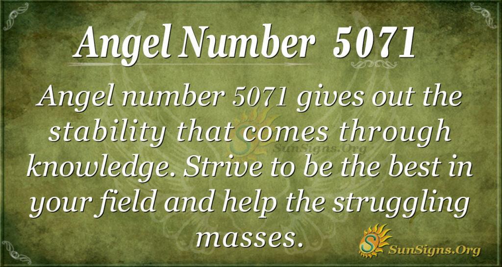 5071 angel number