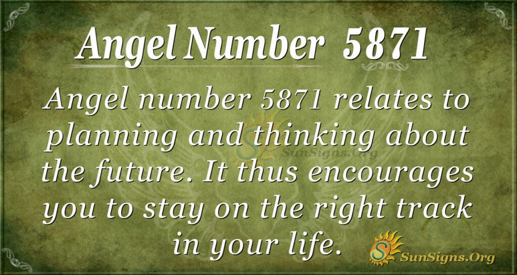 5871 angel number