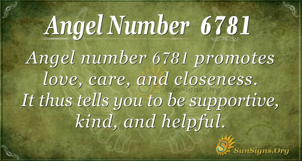 6781 angel number