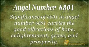 6801 angel number