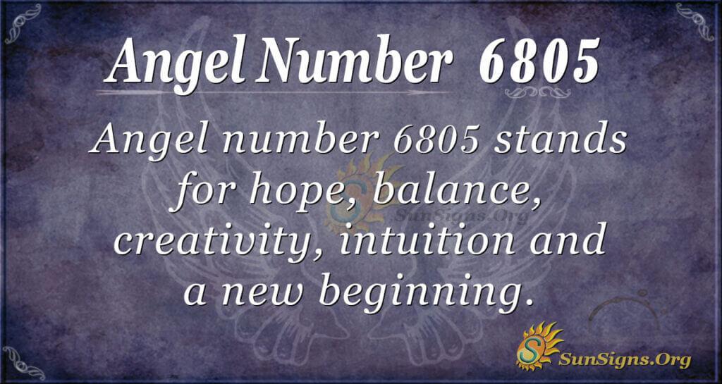 6805 angel number