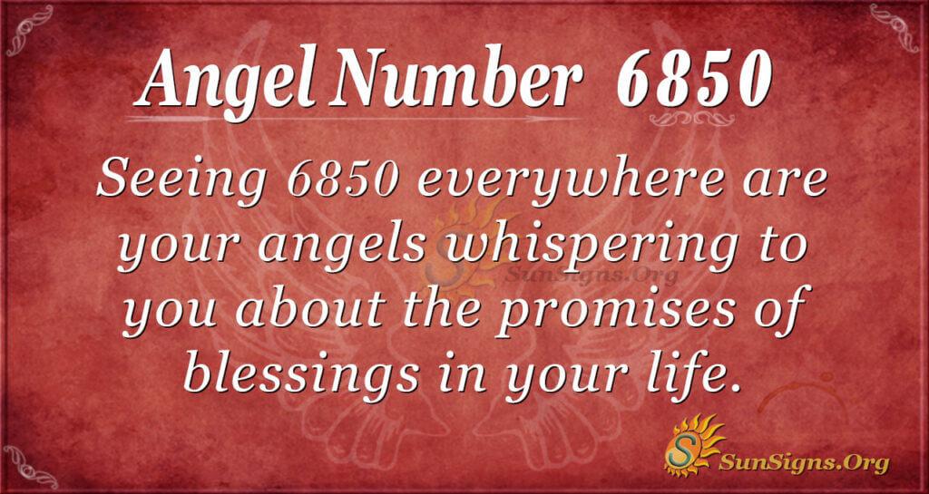 6850 angel number