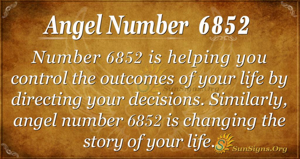 6852 angel number