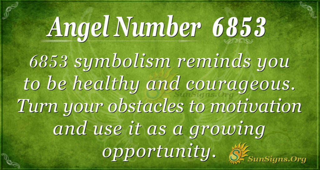 6853 angel number