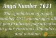 7031 angel number
