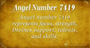 7419 angel number