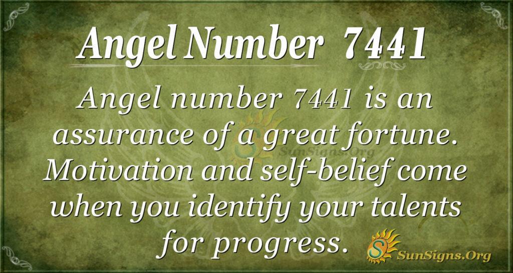7441 angel number