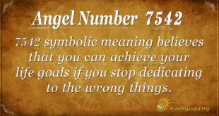 7542 angel number