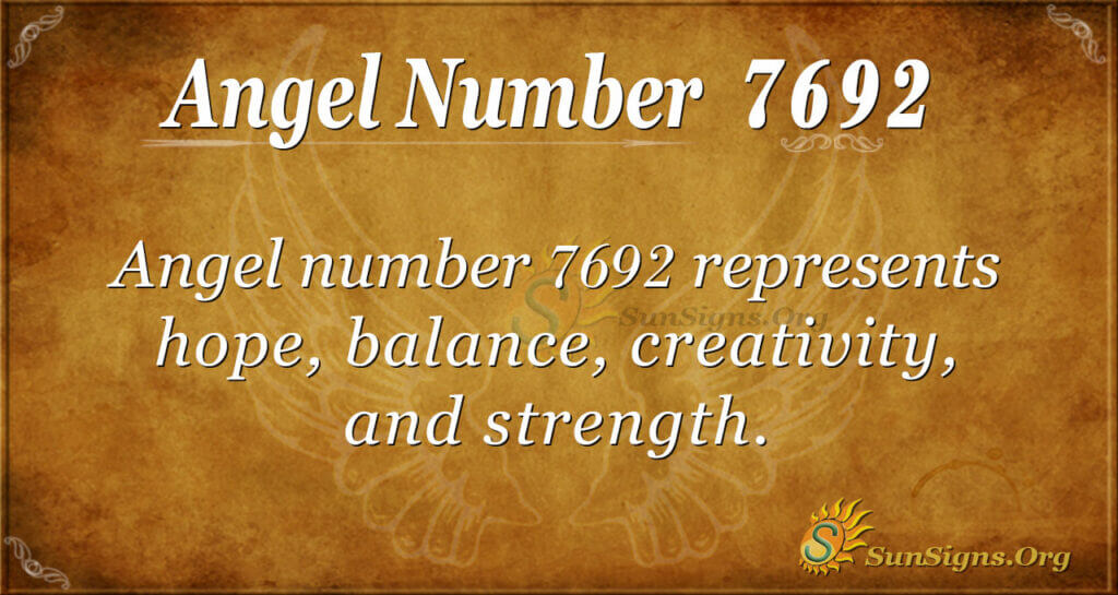 7692 angel number