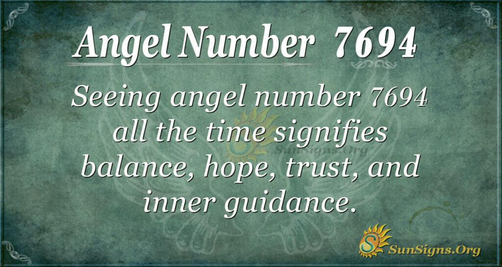 7694 angel number