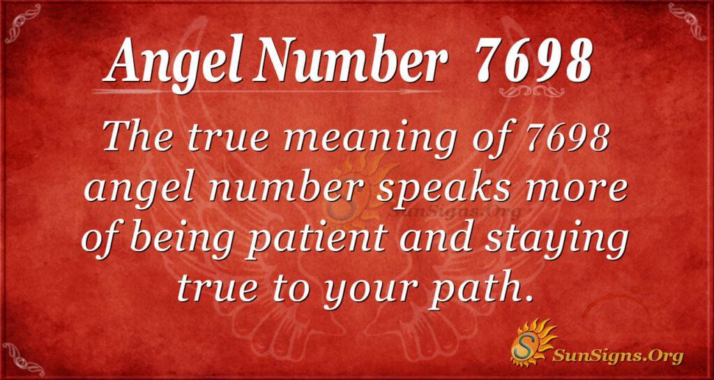 7698 angel number