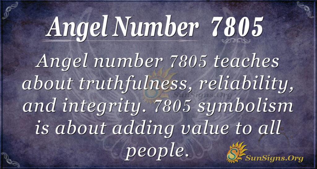 7805 angel number