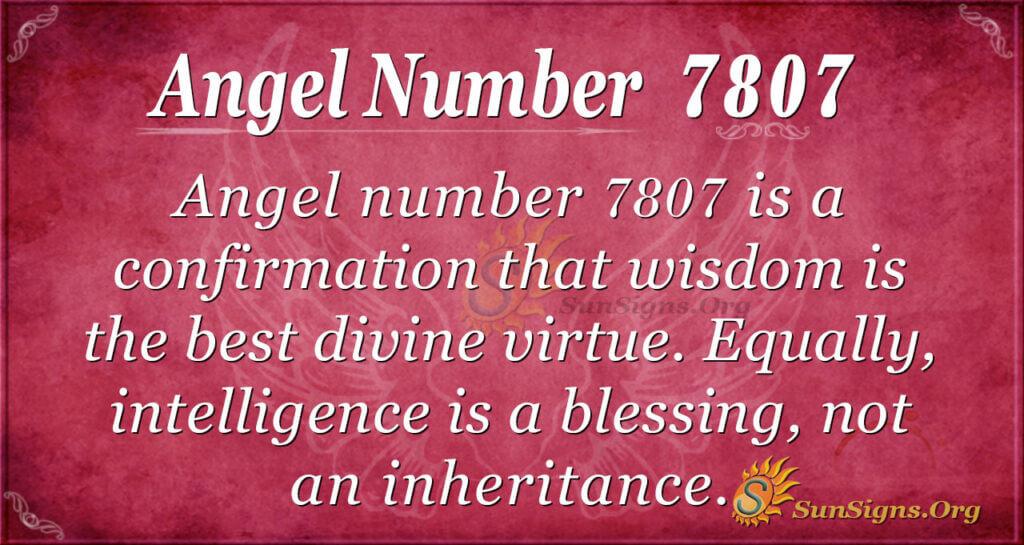7807 angel number