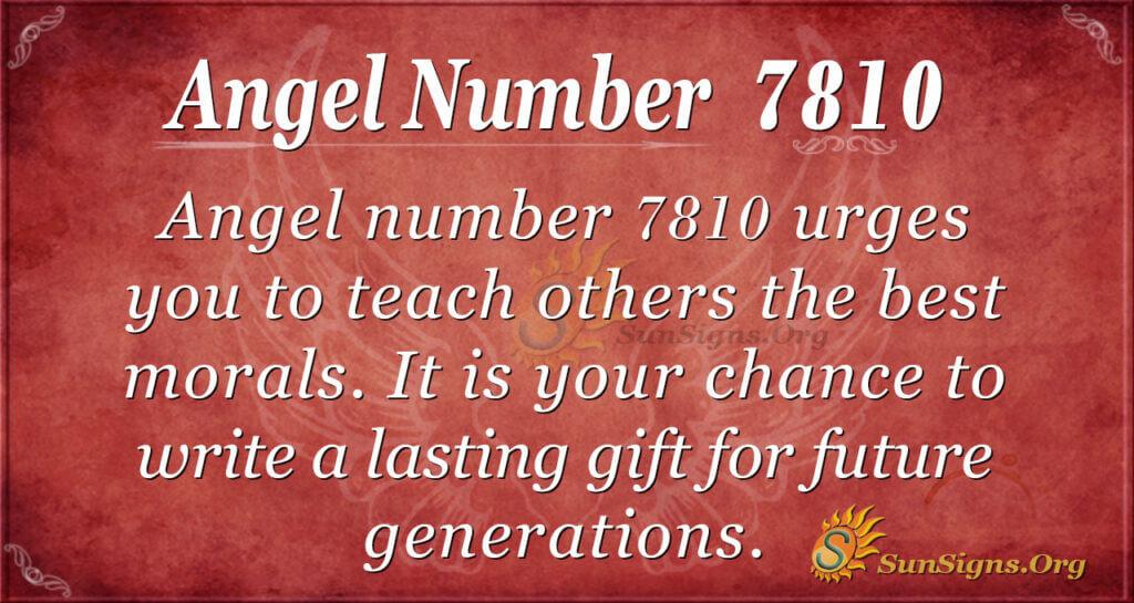 7810 angel number