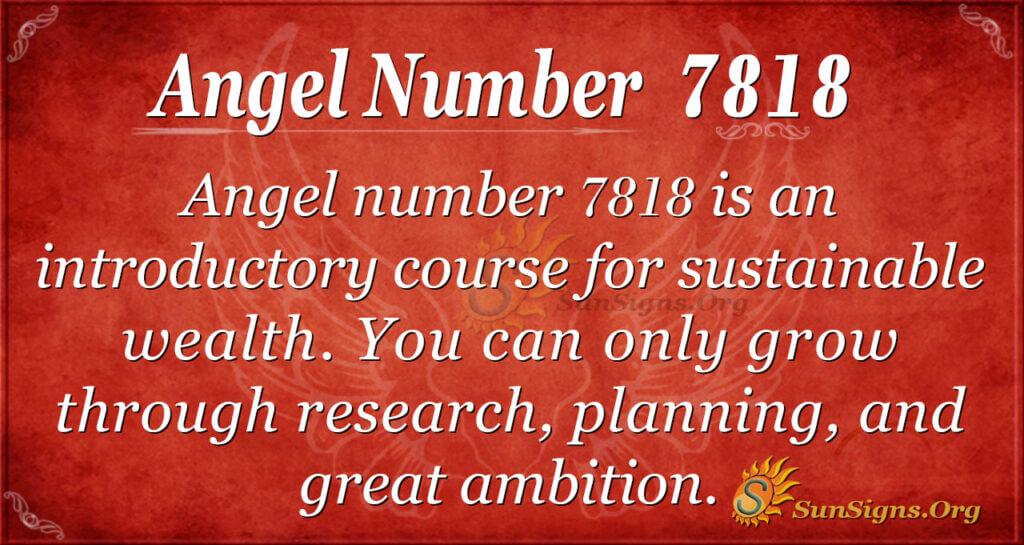 7818 angel number