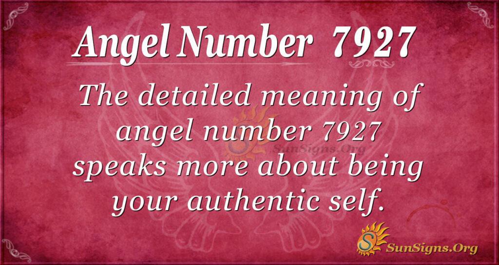 7927 angel number