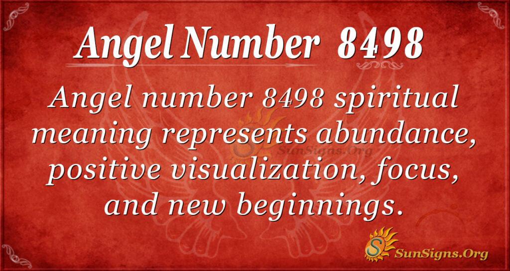 8498 angel number