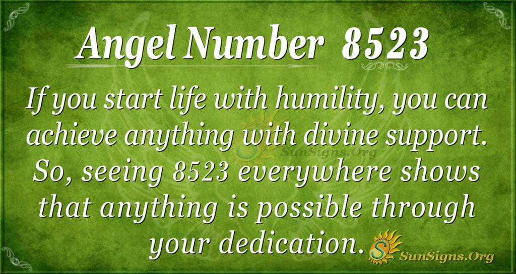 8523 angel number
