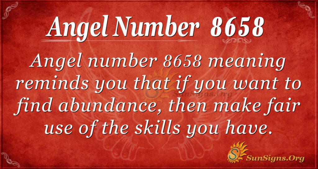 8658 angel number