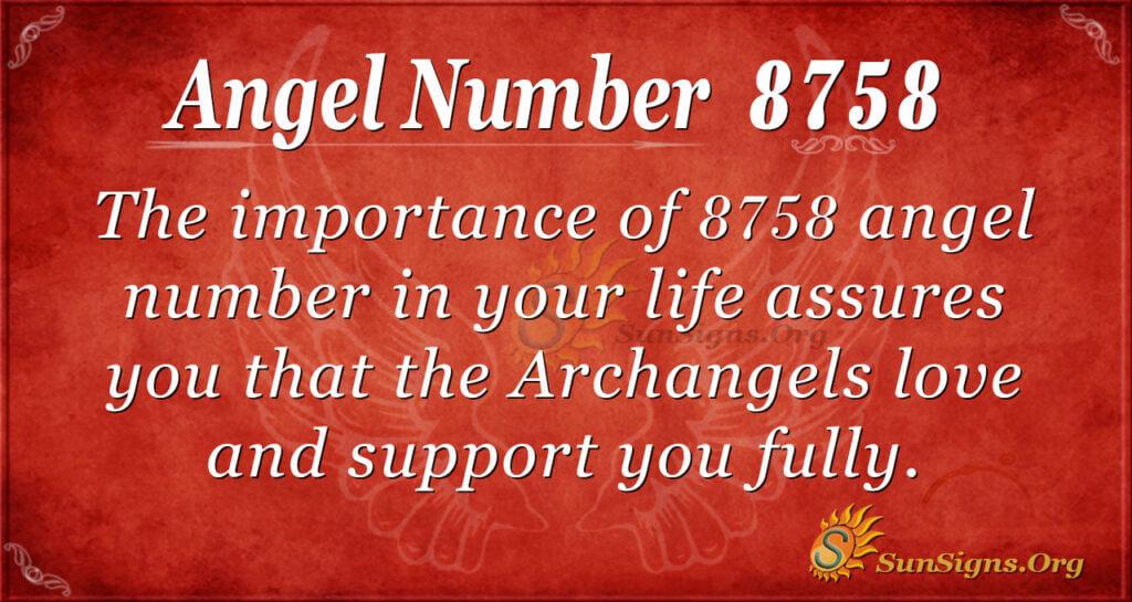 8758 angel number