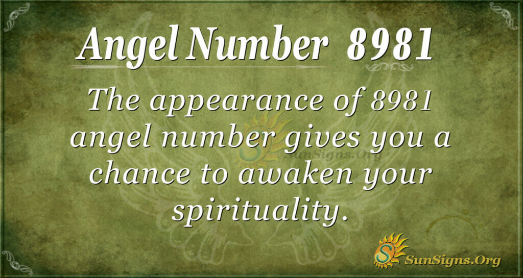 8981 angel number