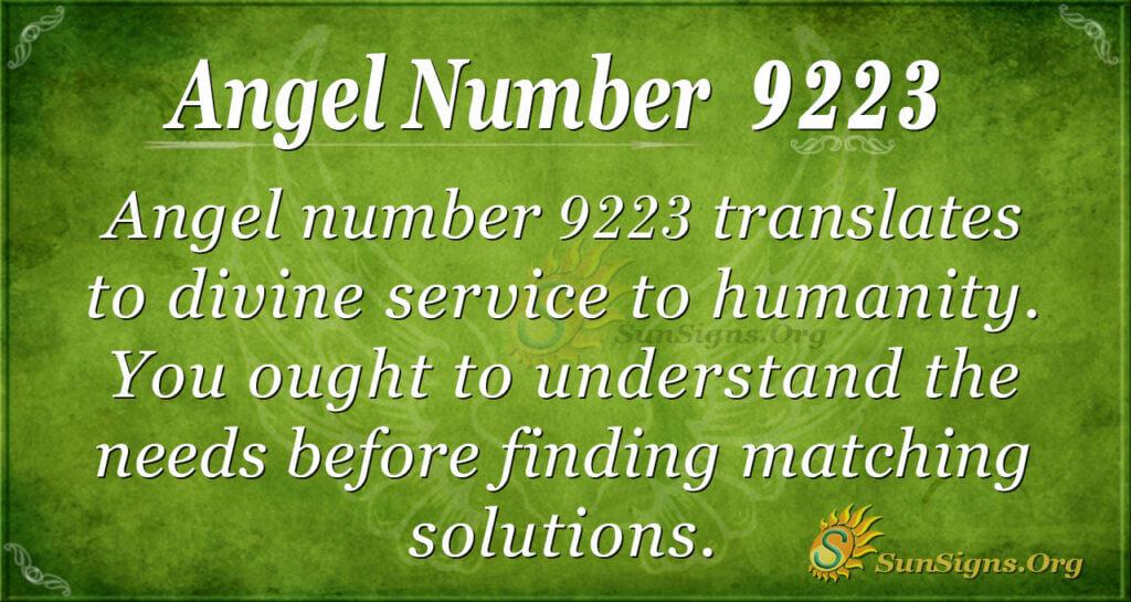 9223 angel number