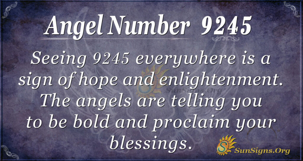 9245 angel number