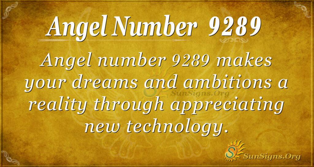 9289 angel number