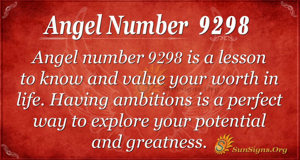 9298 angel number