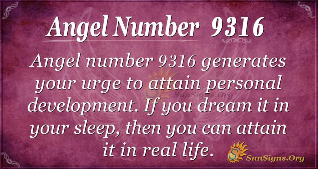 9316 angel number