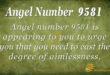 9581 angel number