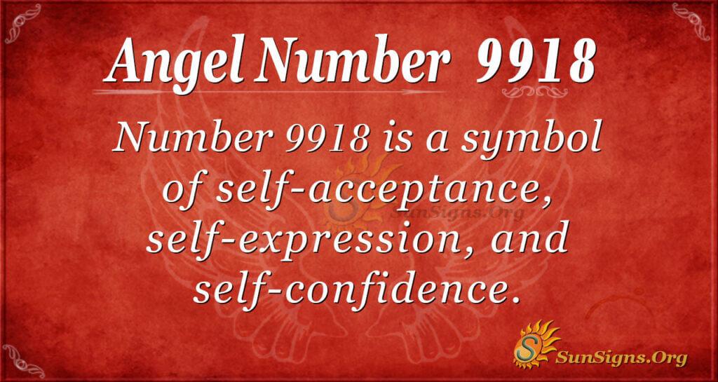 9918 angel number