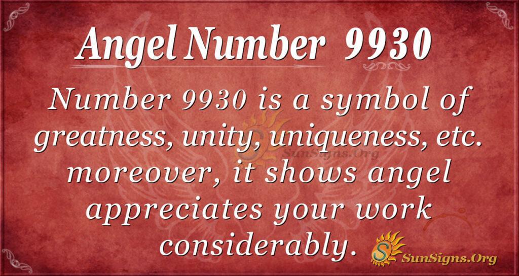 9930 angel number
