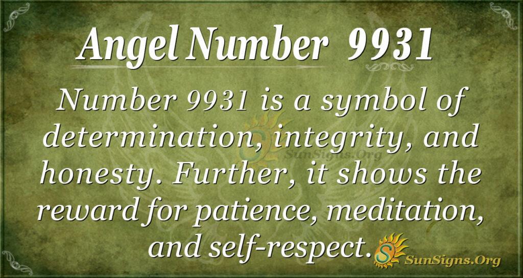 9931 angel number