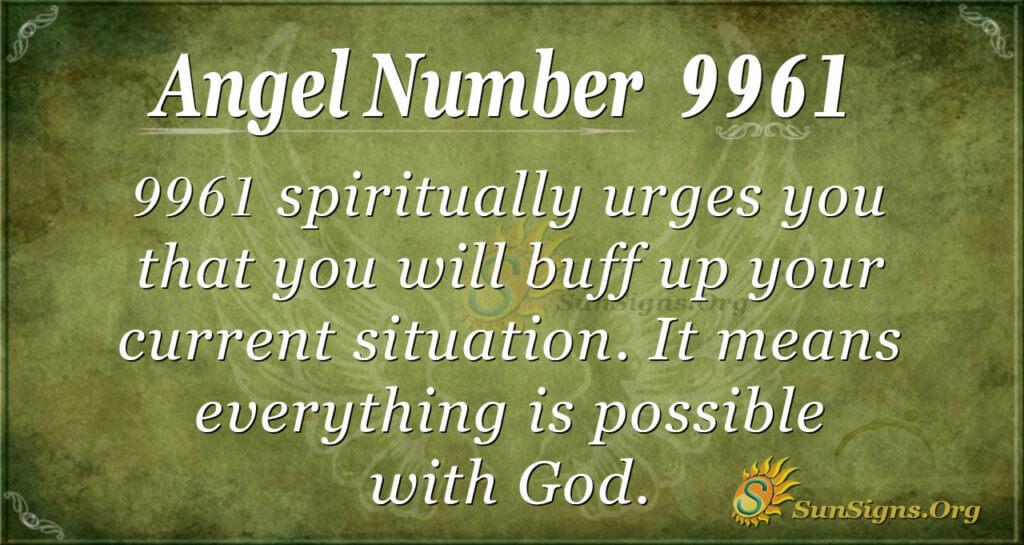 9961 angel number