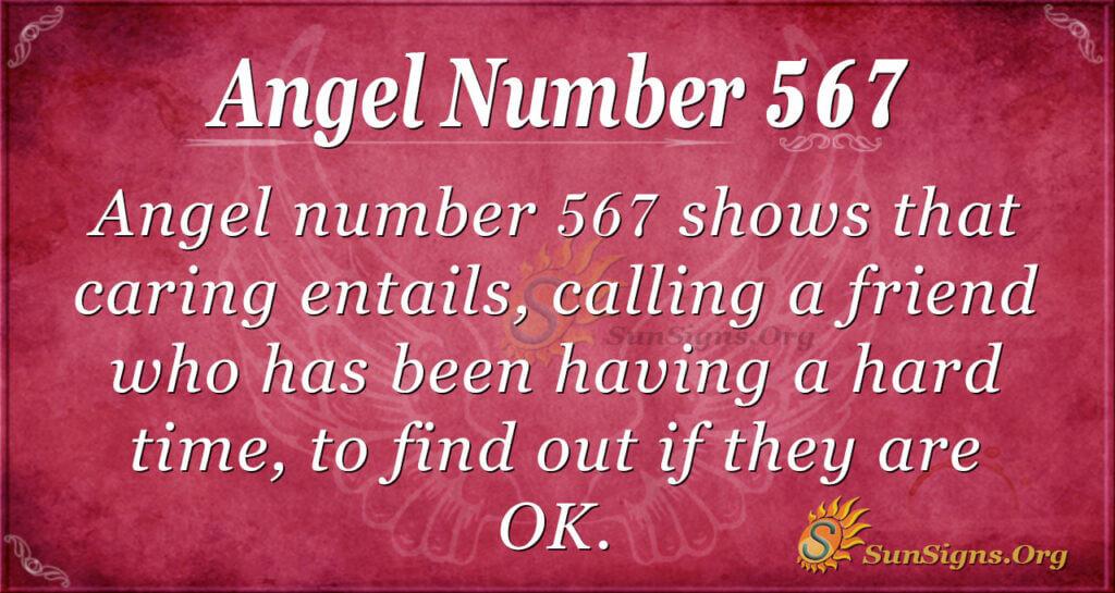 Angel Number 567