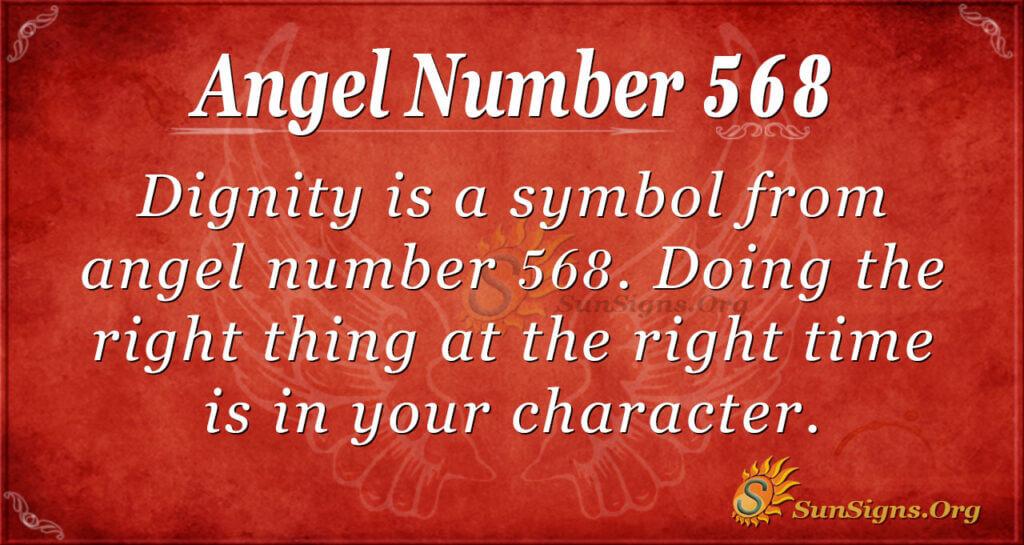 Angel Number 568
