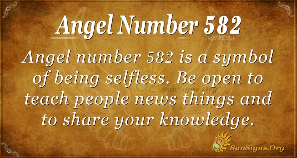 Angel Number 582