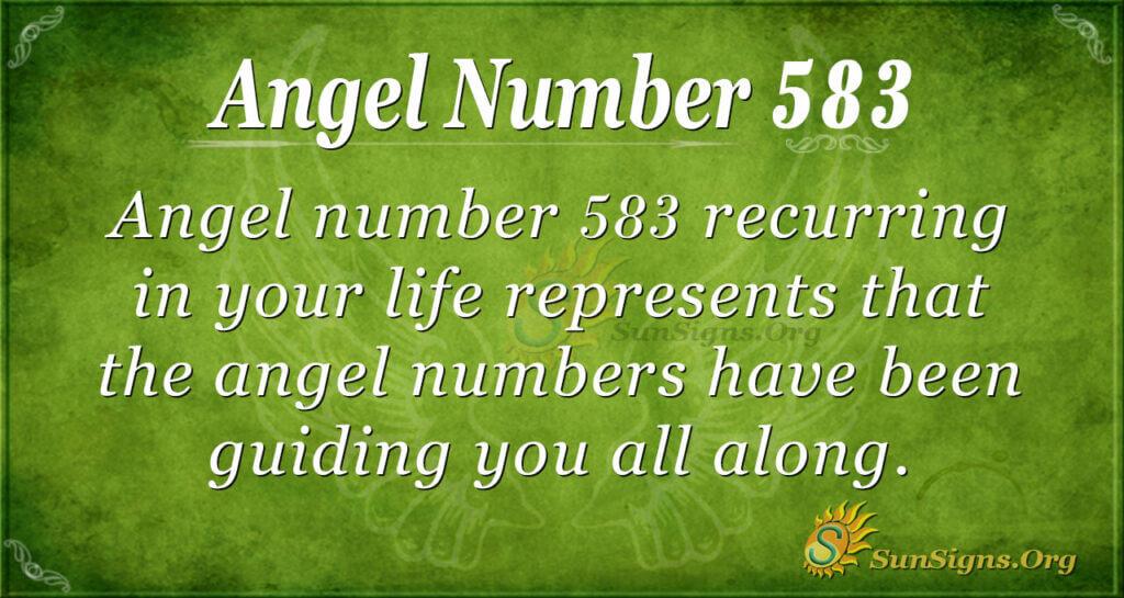 Angel Number 583