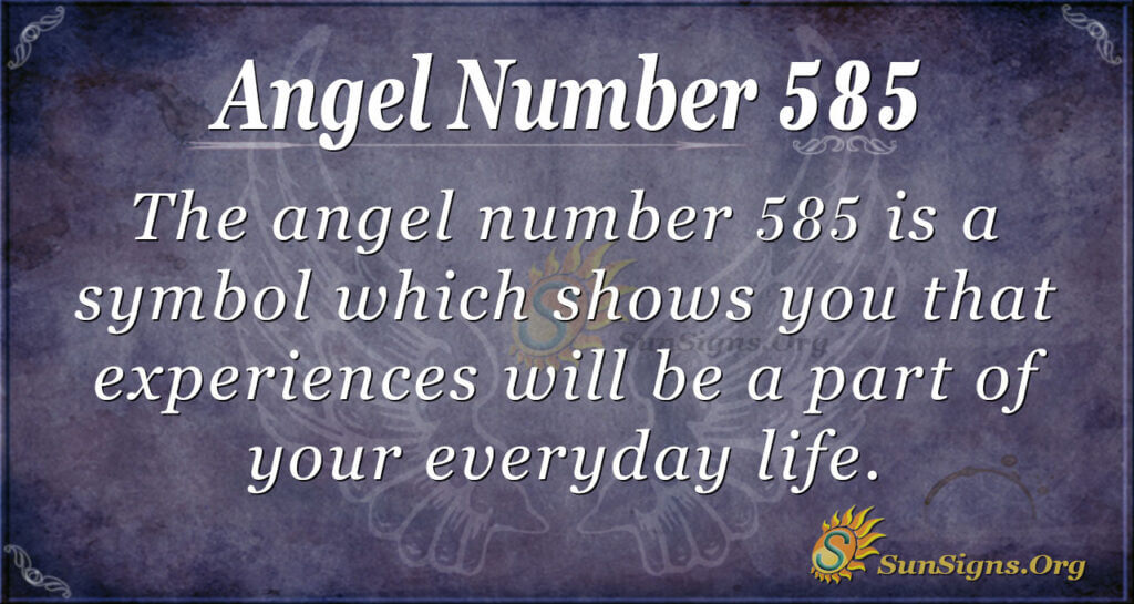 Angel Number 585