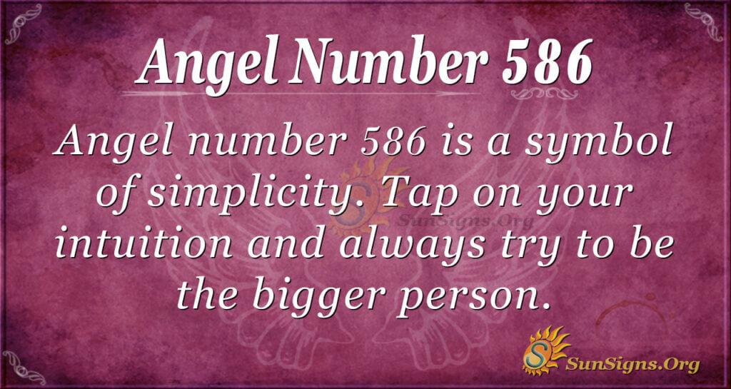 Angel Number 586