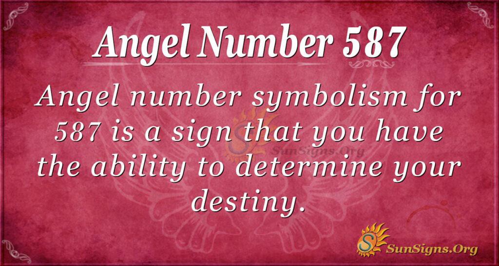 Angel Number 587
