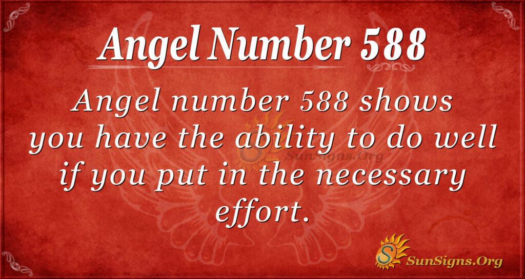 Angel Number 588